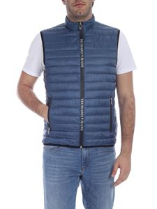 Trussardi Jeans - Quilted down waistcoat in blue