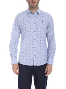 Trussardi Jeans - Embroidered shirt in light blue
