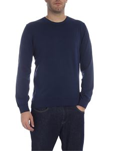 Trussardi Jeans - Crew-neck pullover in blue with logo