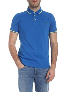 Trussardi Jeans - Short sleeve polo in turquoise and yellow
