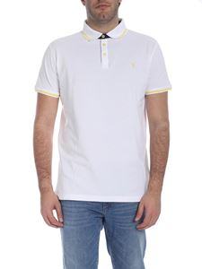 Trussardi Jeans - Short sleeve polo in white and yellow