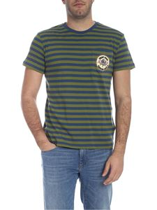 Trussardi Jeans - Striped T-shirt in green and blue