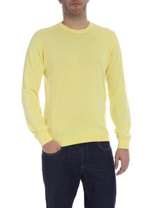 Trussardi Jeans - Crew-neck pullover in yellow with logo