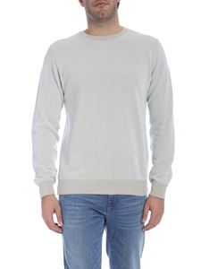 Trussardi Jeans - Textured pullover in light blue and beige