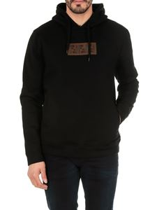 Fendi - Cotton and cashmere hoodie in black