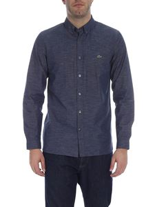 Lacoste - Button-down blue shirt