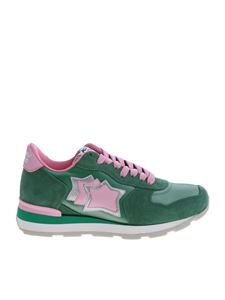 Atlantic Stars - Vega green and pink sneakers