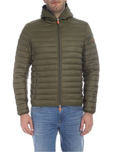 Save the duck - Down jacket in green with hood