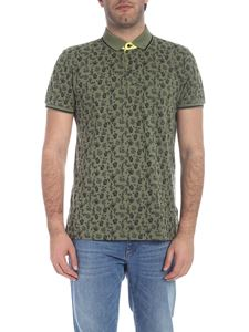 Trussardi - Cactus printed polo in army green
