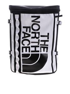 The North Face - Coated fabric backpack in black and white