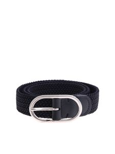 Anderson's - Dark blue braided belt