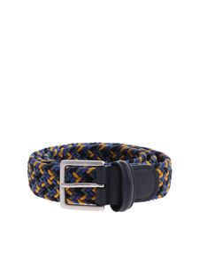 Anderson's - Braided belt in yellow and blue