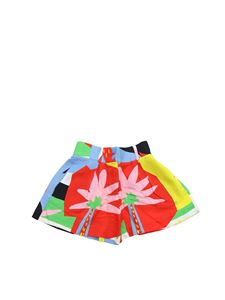 Stella McCartney Kids - Shorts in viscosa multicolor
