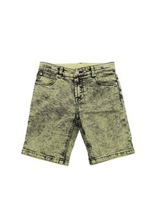 Stella McCartney Kids - Stone washed bermuda shorts in green and black