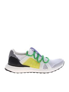 Adidas by Stella McCartney - Ultraboost sneakers in white with multicolor laces