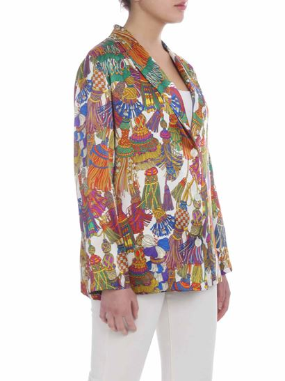 Shirtaporter - Multicolor jacket with tassel print