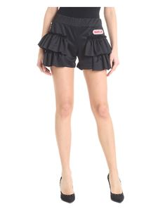 Gaelle Paris - Flounced shorts with white logo