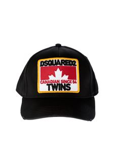 Dsquared2 - Twins Baseball Cap in black