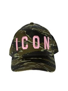 Dsquared2 - Cappello Icon Baseball verde camouflage