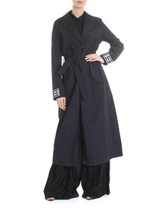 Off-White - Trench coat in black with belt at the waist