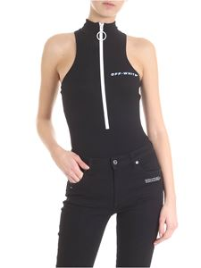 Off-White - Sleeveless ribbed body in black