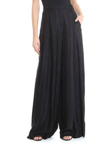 Off-White - Wide pants with logo jacquard in black