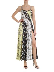 Off-White - Multi-pattern floral vent dress