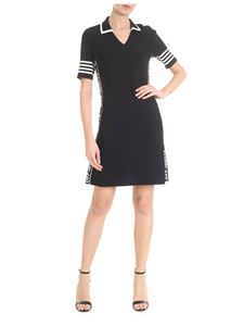Off-White - Flared dress in black with collar