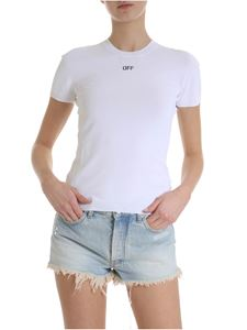 Off-White - Off knitted T-shirt in white