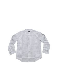 Il Gufo - White and grey striped shirt