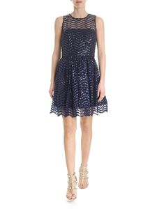 Alice + Olivia - Sequin dress in blue and black