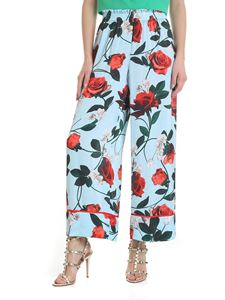Alice + Olivia - Wide leg trousers in floral light blue