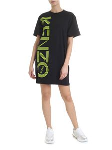Kenzo - Kenzo dress in black and neon yellow