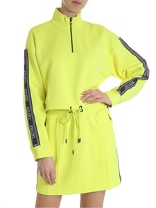 Kenzo - Oversize crop sweatshirt in neon yellow