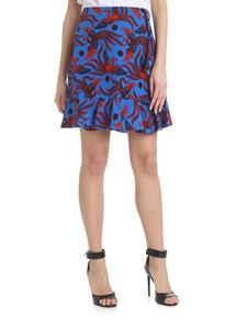 Kenzo - Flying Phoenix blue mini skirt