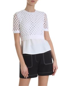 Kenzo - Viscose and crochet white top