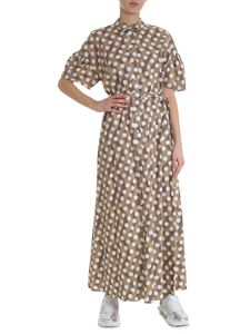 Kenzo - Long dress with white polka dots in beige