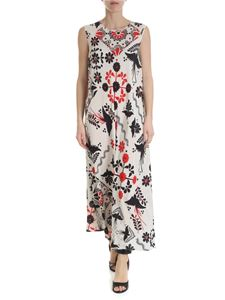 Red Valentino - Long dress with decorated terrace print