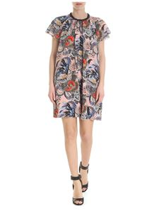 Red Valentino - Midi pink dress with Wild Pride print