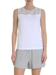 Fabiana Filippi - White top with thin micro-studs stripe