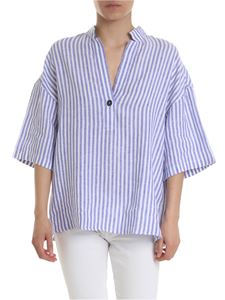 Fay - Blue and white striped blouse