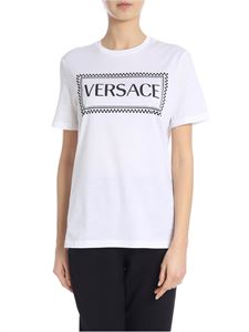 Versace - White T-shirt with contrasting logo