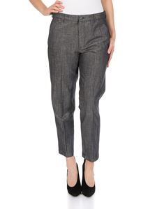 Dondup - Rothka laminated trousers in blue