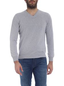 Kangra Cashmere - V-neck pullover in gray