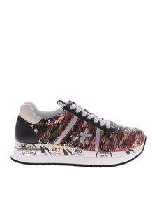Premiata - Multicolor sequined Conny sneakers