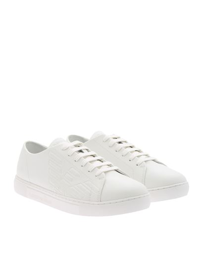 c61609109 Emporio Armani Spring Summer 2019 white leather sneakers - X4X238 ...