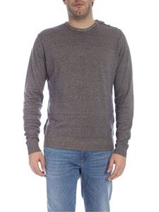 Trussardi Jeans - Blue and beige pullover with buttons