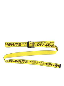 Off-White - Industrial Classic belt in yellow