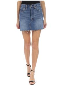 Levi's - Deconstructed skirt in blue denim