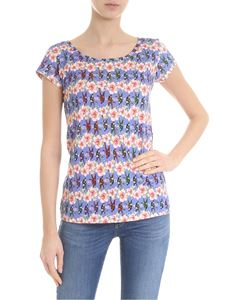 Ultràchic - Lilac t-shirt with flower pattern